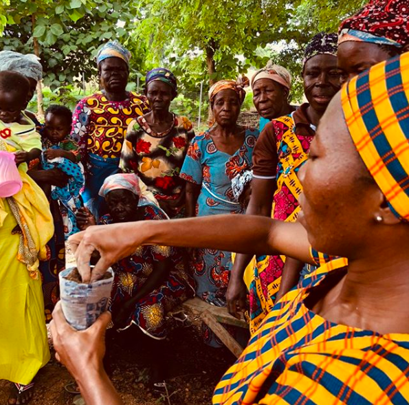 The women's cooperative has already started to help their environment by planting trees. The next step could be having their own tree nursery to help that cause.