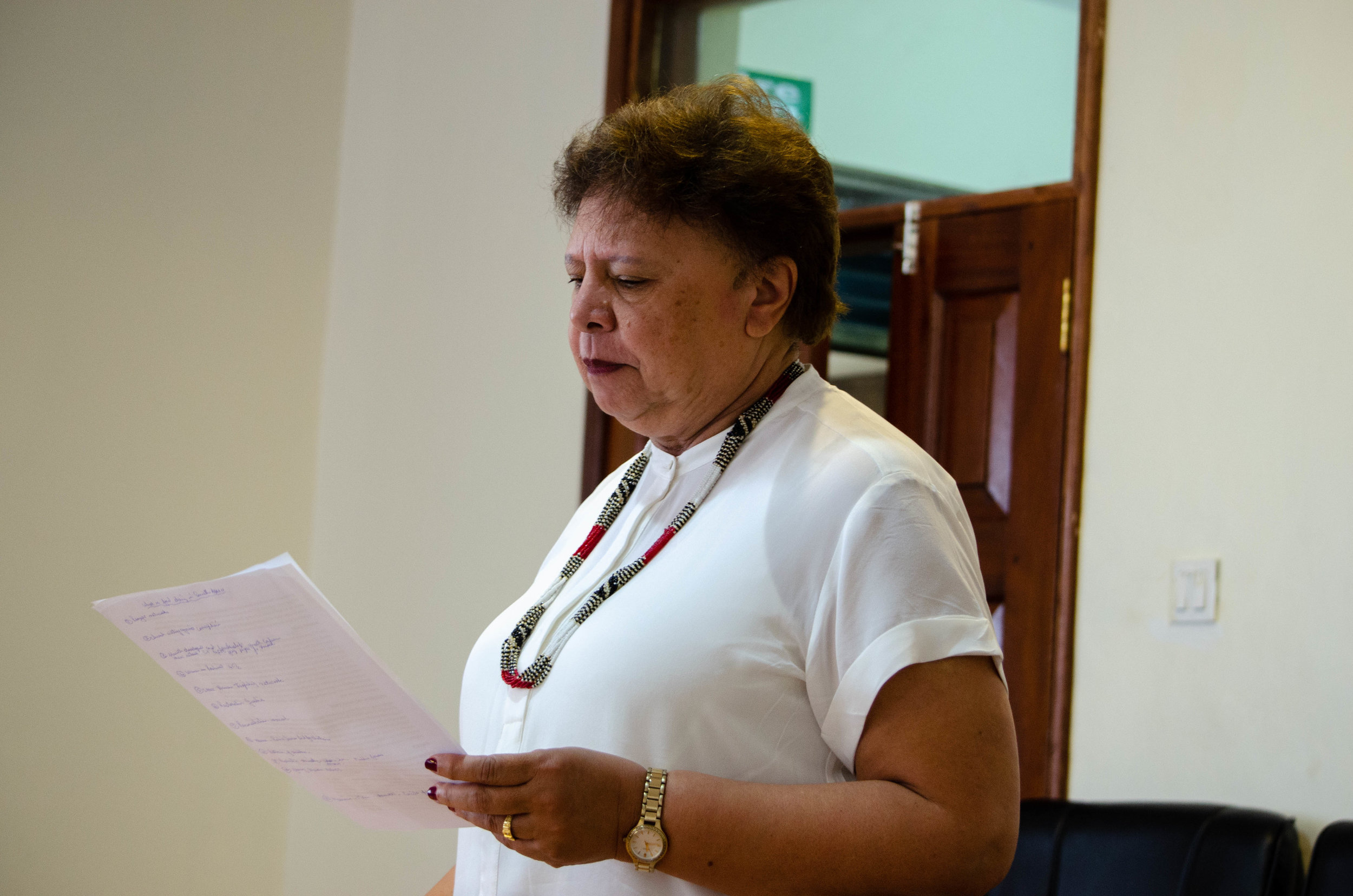 SOUTHERN AFRICA - Esmé Bowers, Tirzah's regional leader in Southern Africa, trains key leaders in the nations throughout her region. Trainings focus on preparing women for leadership in both church and community. Esmé also teaches both men and women on gender issues that prevent women from stepping forward into leadership.