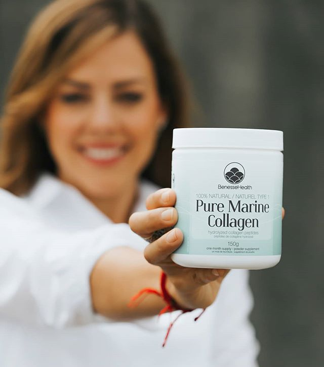 HAIR / SKIN / NAILS / JOINTS 100% Natural, Pure Marine Collagen. . Type 1 premium peptides sourced from a single wild-caught species from the European North Atlantic Ocean and third party certified for sustainability and ethics. Free of metals, radiation, contaminants, preservatives, flavours or any additives. . ⚡⚡flash sale at well.ca⚡⚡ . #marinecollagen #colllagenpeptides #hydrolyzedcollagen #cleancollagen #collagen #bestcollagen #canadiancollagen #canadiancompany #womanowned #pure #premiumcollagen #benessehealth #benessecollagen #innerhealth #healthyeating #healthyrecipies #smoothierecipes #innerstrength #hydrate #smoothskin #stronghair #strongjoints #cartilage #regenerate #type1collagen