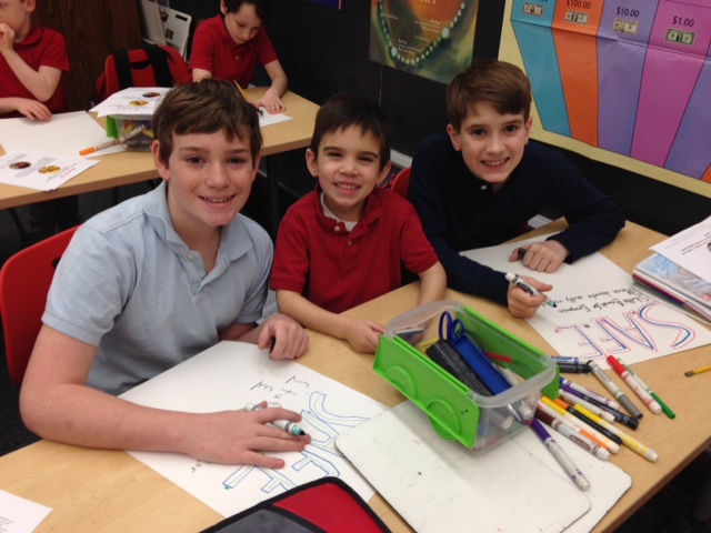Creating S.A.F.E. posters with our Buddies. -