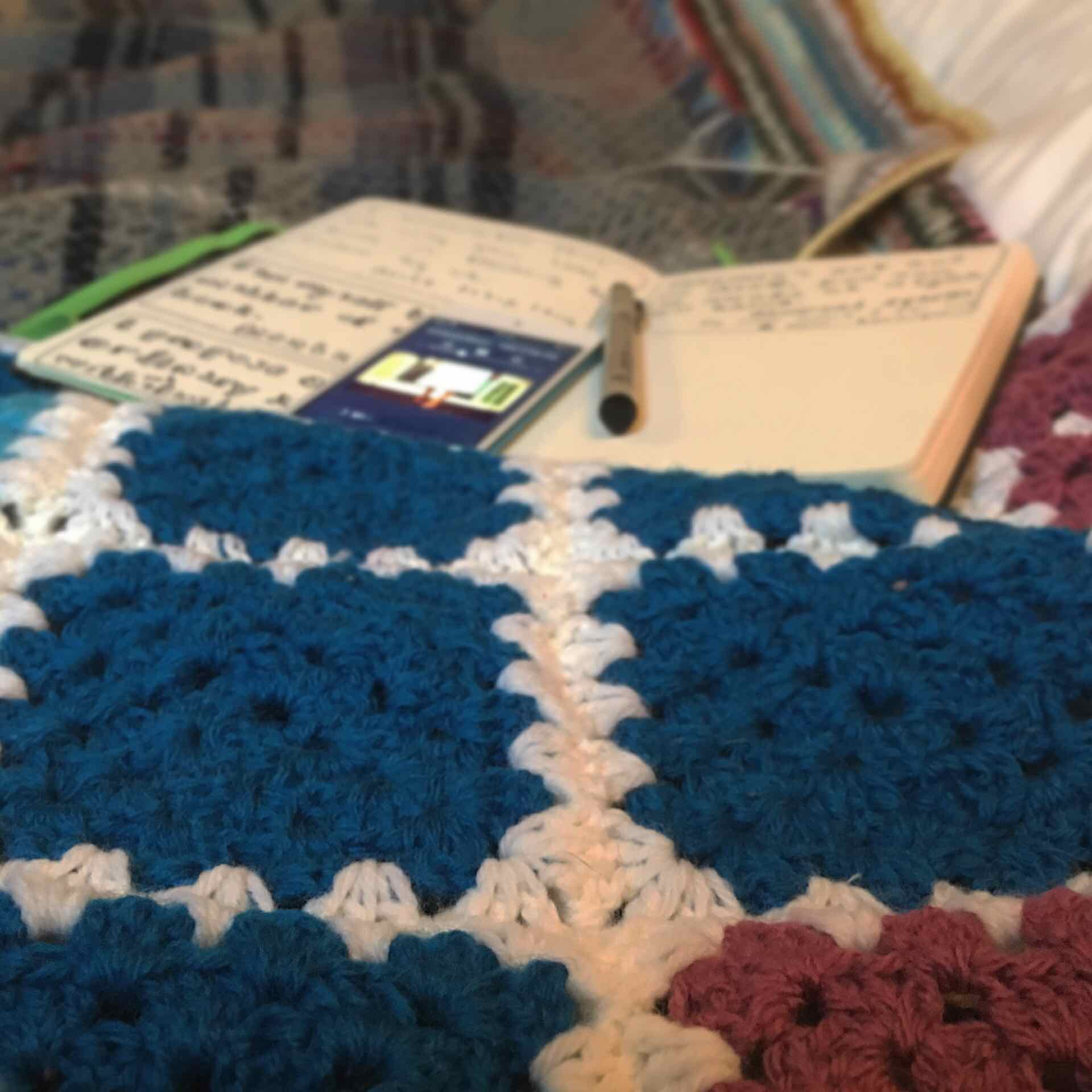 Crocheting and listening