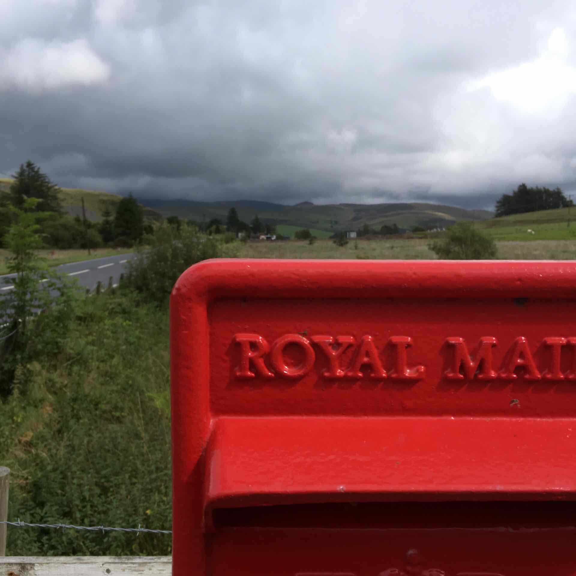 A postbox with a view