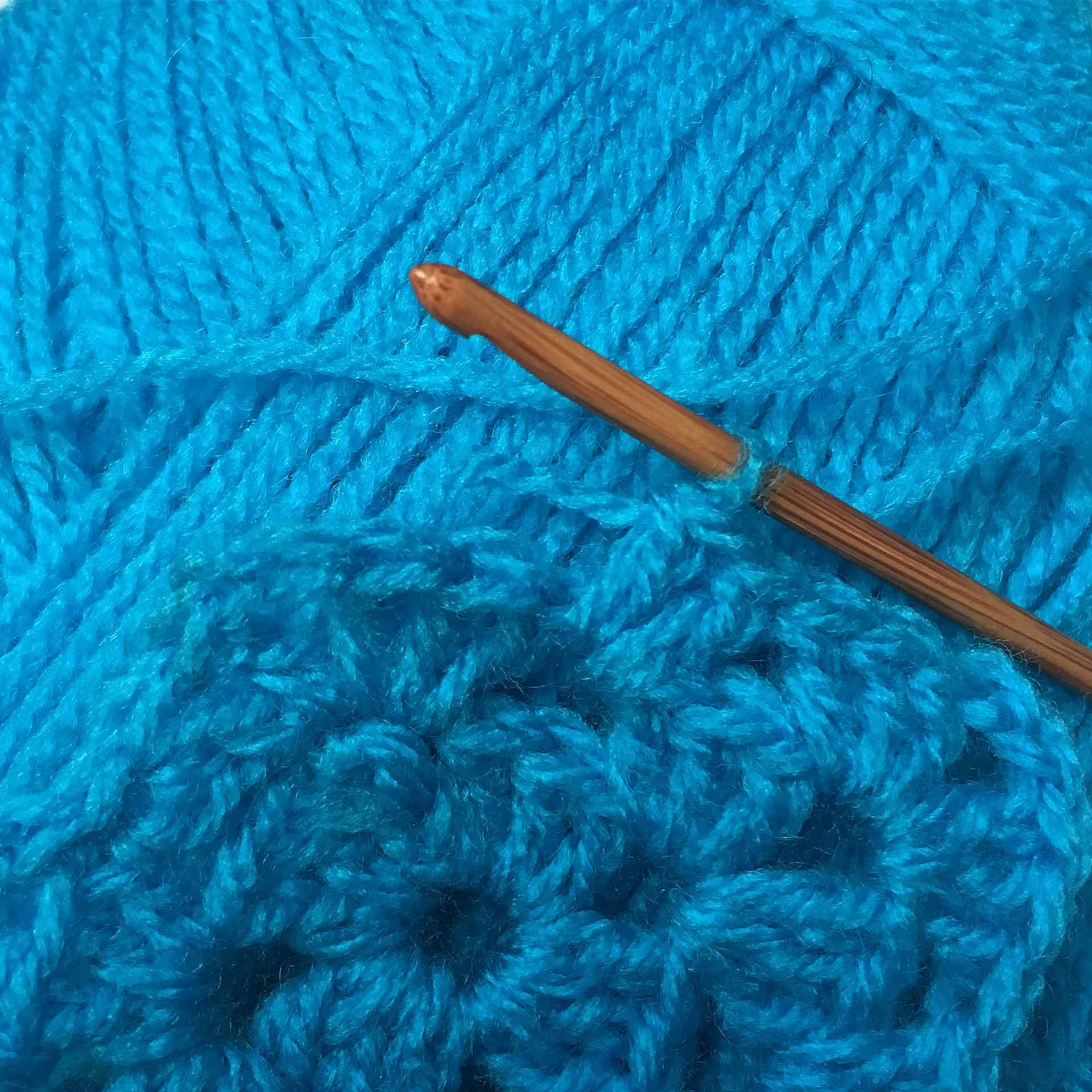 New blue wool