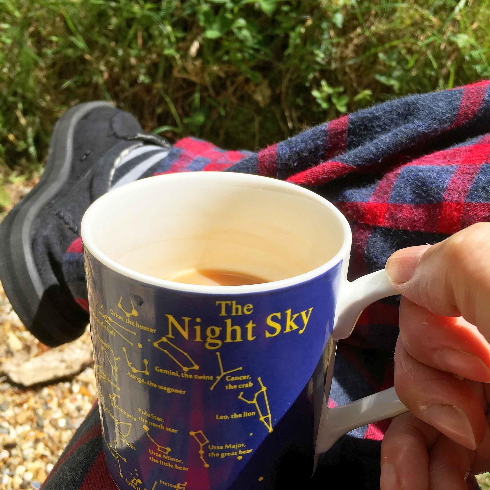 Tea in my pajamas