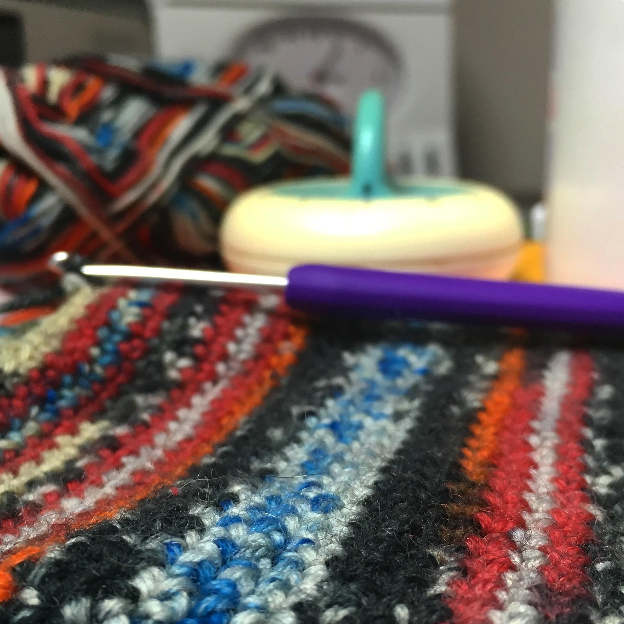 Crocheting a sock