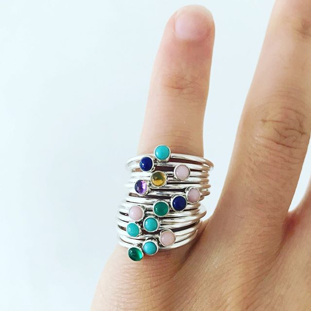 We're way overdue a jewellery post, but hopefully these dainty gemstone stacking rings make up for our tardiness. They are Tegen Montgomerie's latest creations and, if you're so inclined, are now available on our website. Click the image to learn more. #jewellery #stackingrings #ankorcornwall