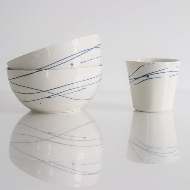 #porcelain pottery handmade in Cornwall by Jethro Lynch #AnkorCornwall
