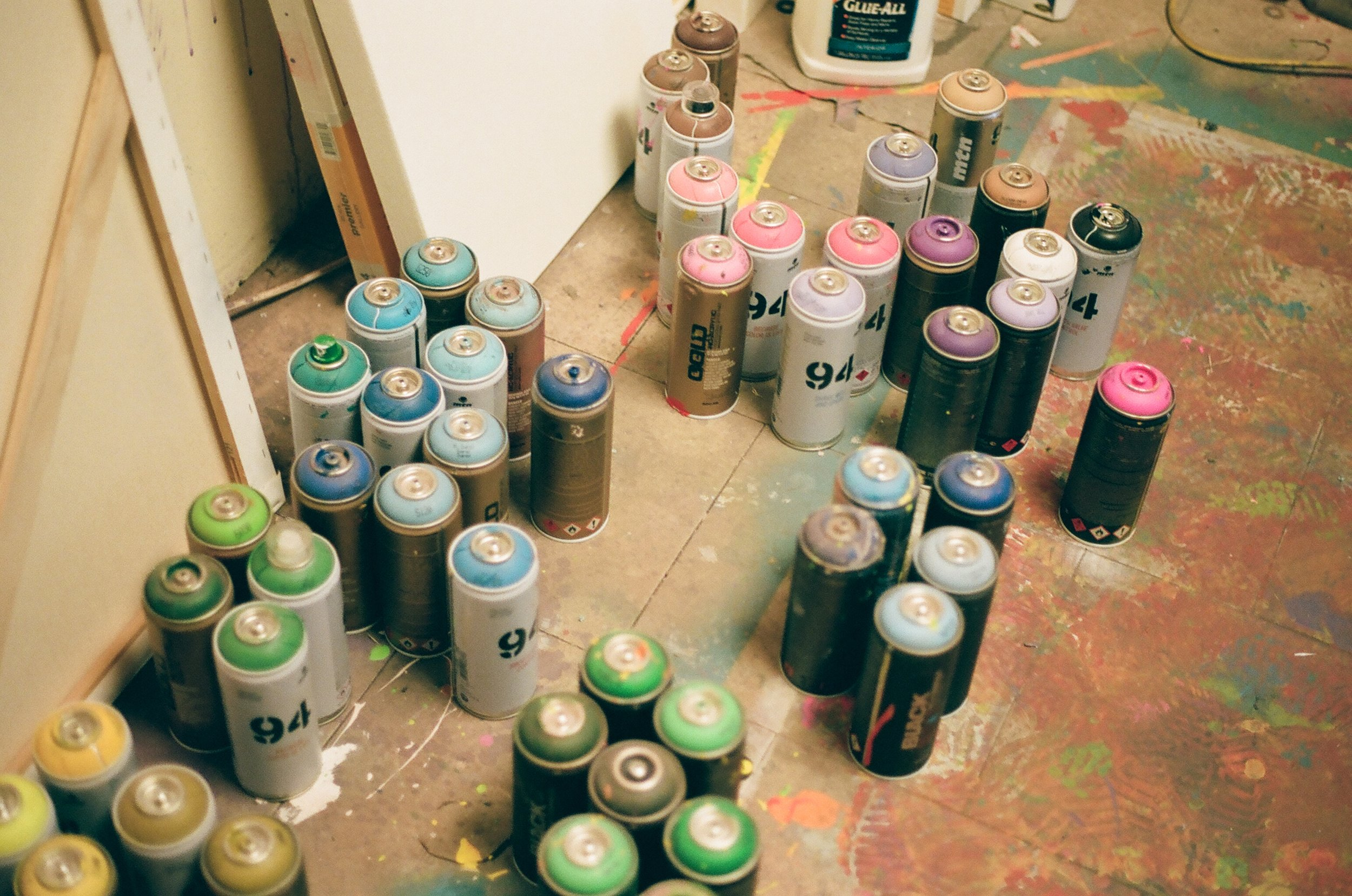 Brandon's assorted spray paints on 35mm