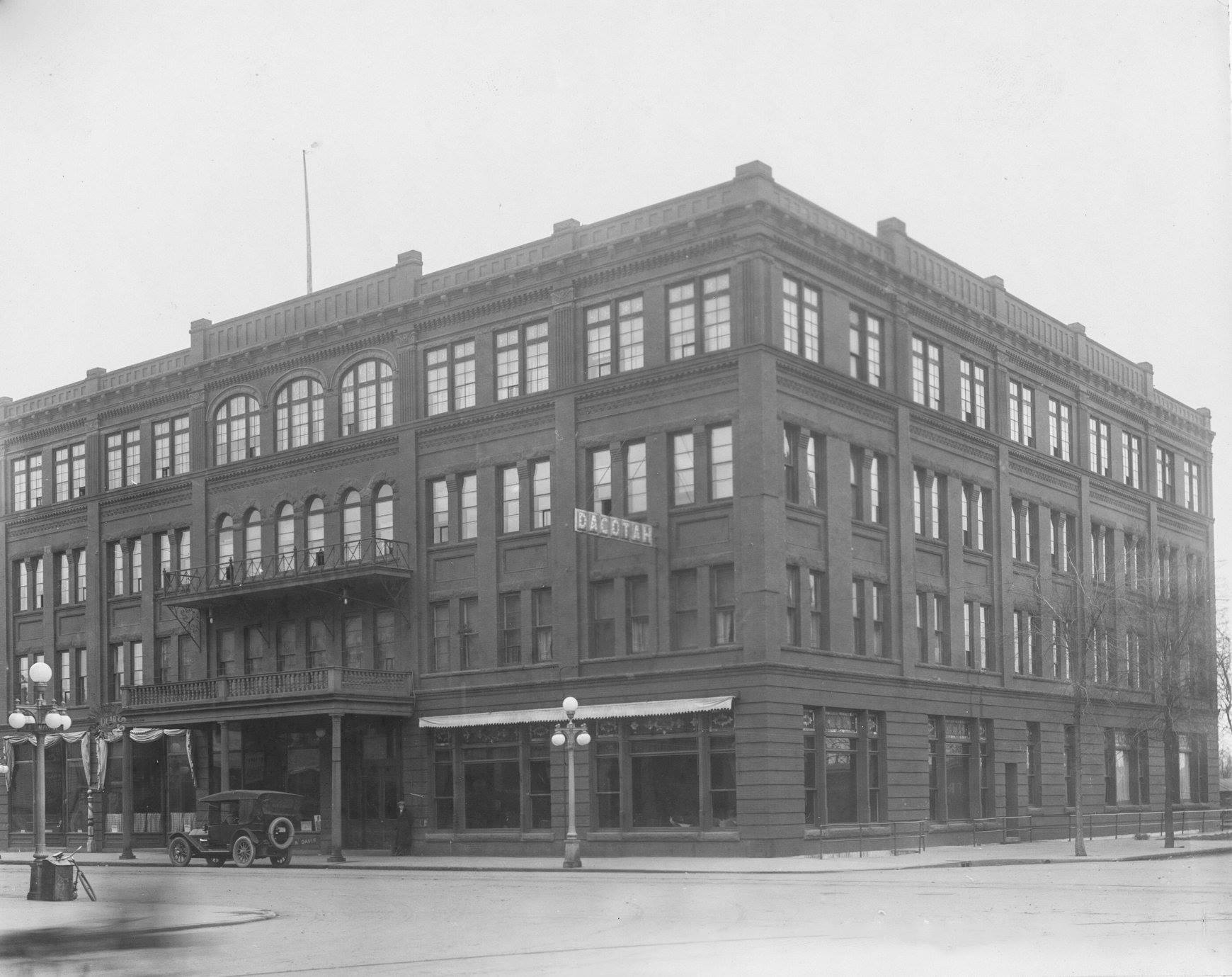 The Dacotah Hotel, corner of 1st Ave N and 3rd N St