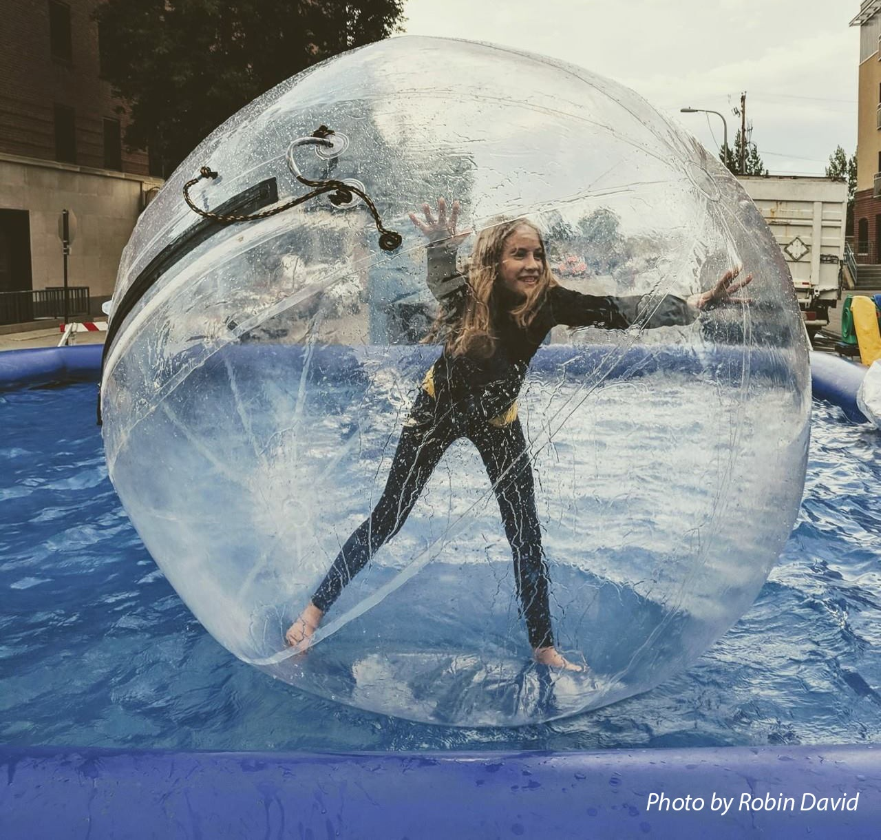 The walk on water activity is BACK for the 2019 Downtown Street Fair!