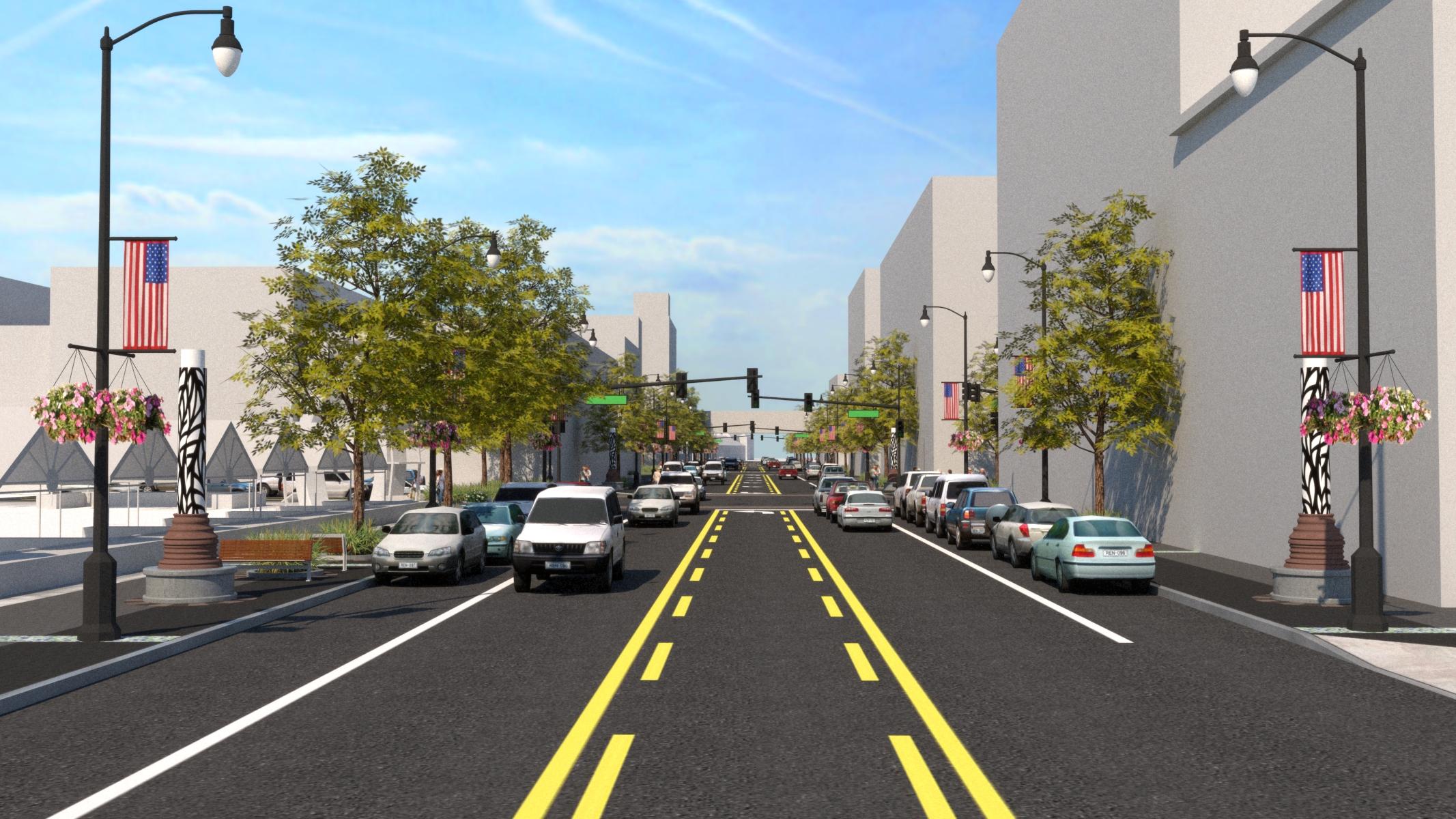 Rendering of Demers Avenue