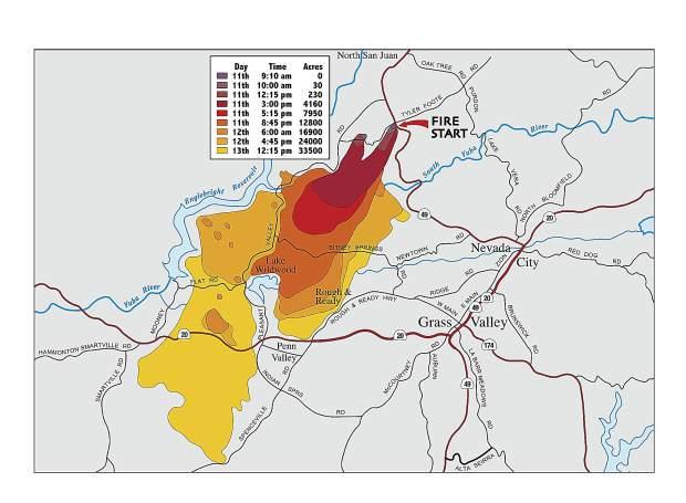 49er Fire Map 1988