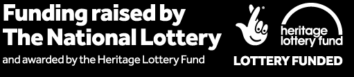 Logo: Funding raised by the National Lottery and awarded by the Heritage Lottery Fund