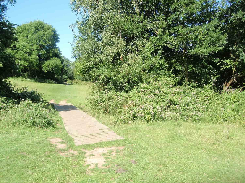 Footpath, Cumborrow/Oakfield boundary