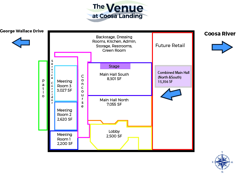 The Venue's Floor Plan