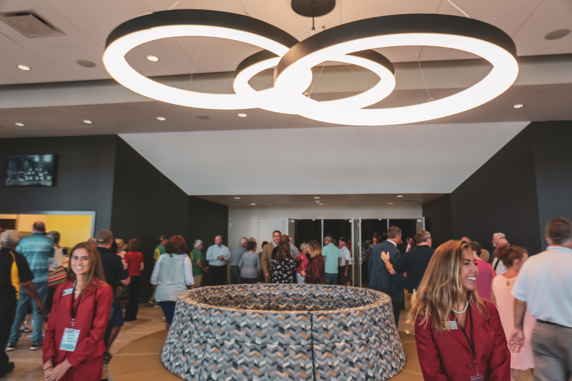 View of Lobby during the open house reception