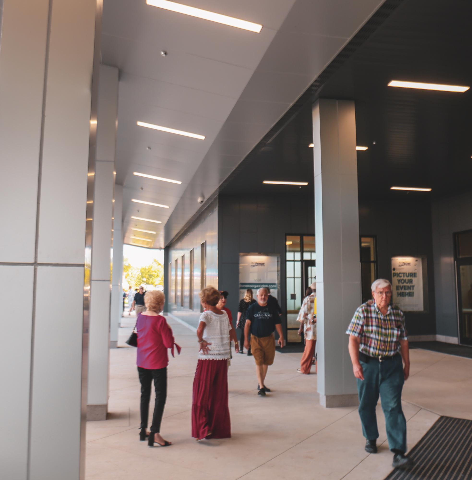 View under the Venues' Porte-cochere