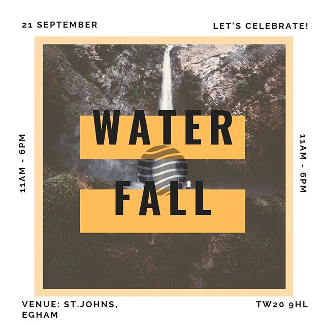 "In September we are going to celebrate our 1 year birthday with a day conference called ""WATERFALL GATHERING"". Book the date and make sure you'll be there, it's going to be a day full of celebrating our church and our church family!  Bring your kids, cause there will be a whole day full of exciting activities for the little ones as well.  If you got your party popper, send us your photos and videos, we would love to see and share them. 🎉"
