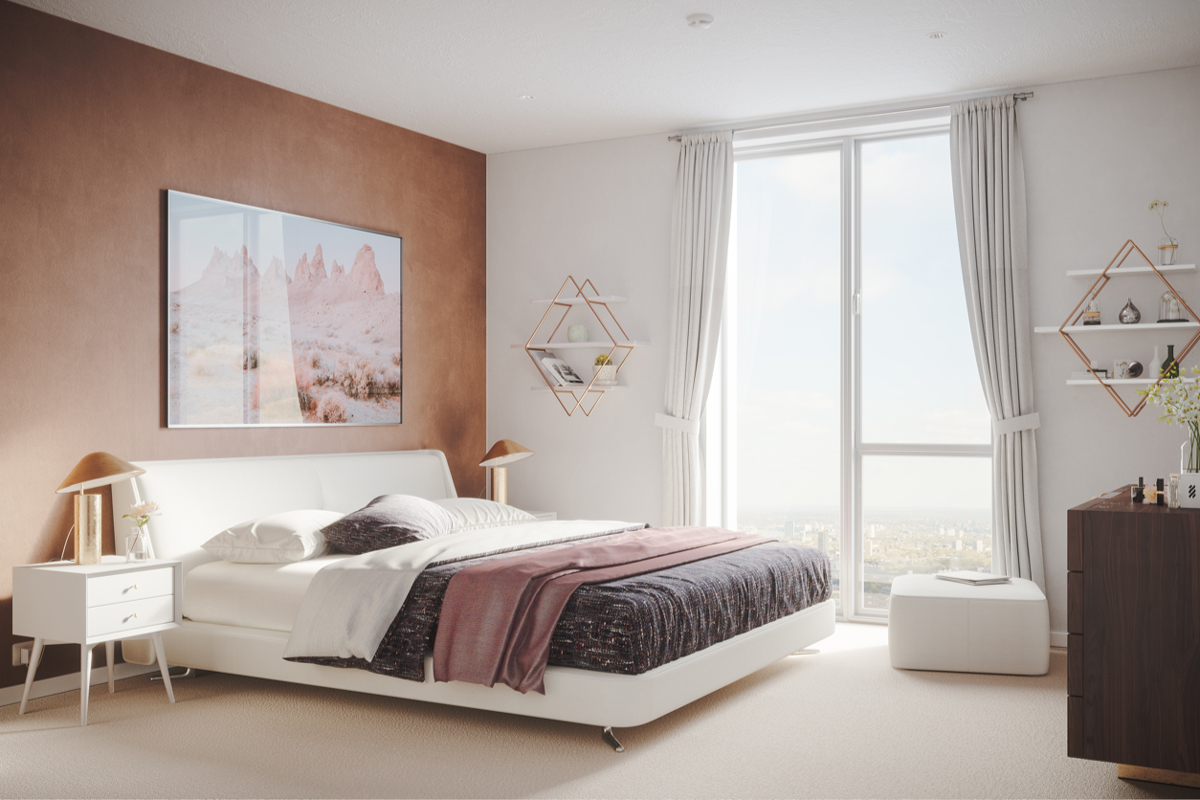 Snuggle down in a beautiful master bedroom with quality 80% wool carpeting, low energy LED downlights, telephone and satellite enabled connectivity.