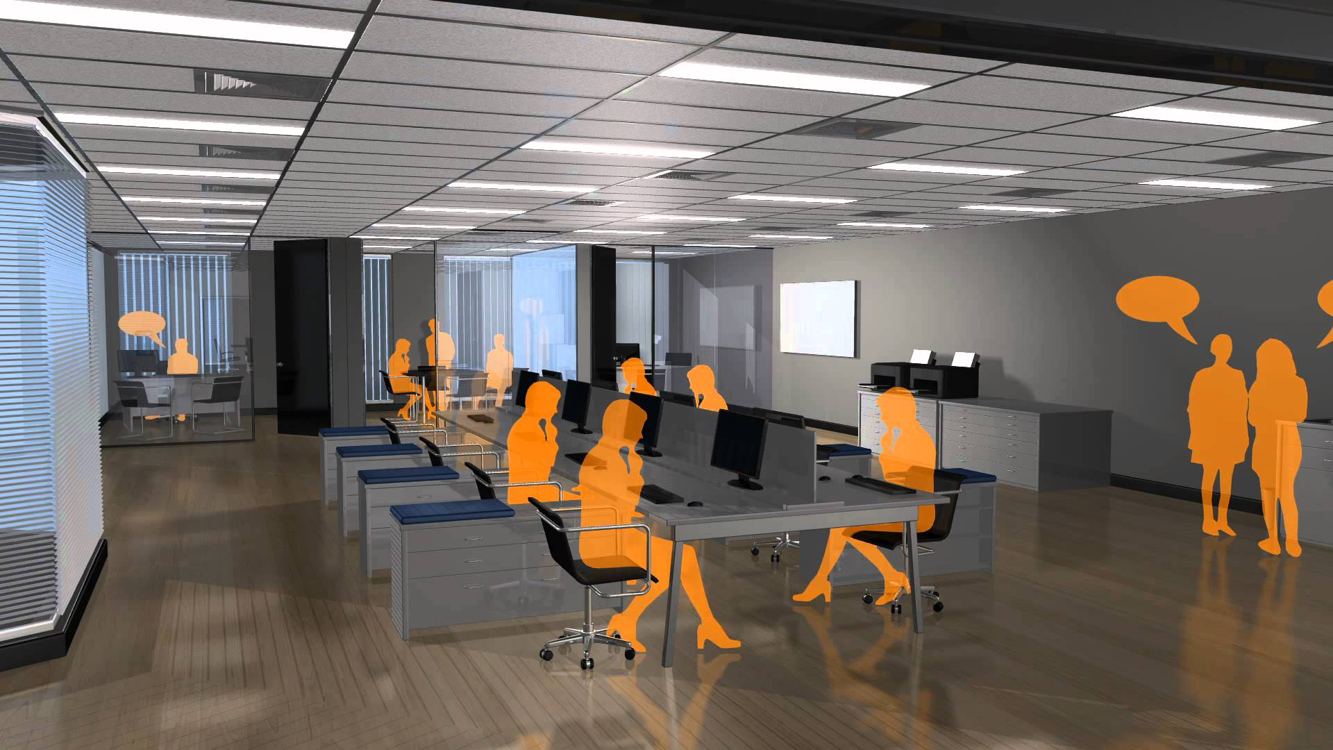 Sound Masking for Open Office Space