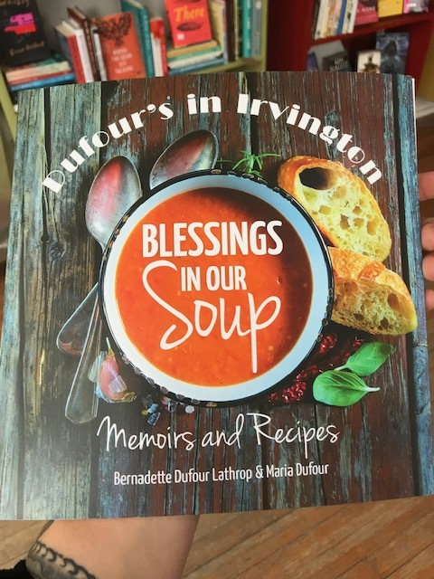 A memoir, a cookbook, and a love letter to the Irvington community. What's not to appreciate? Check out Blessings in Our Soup today!