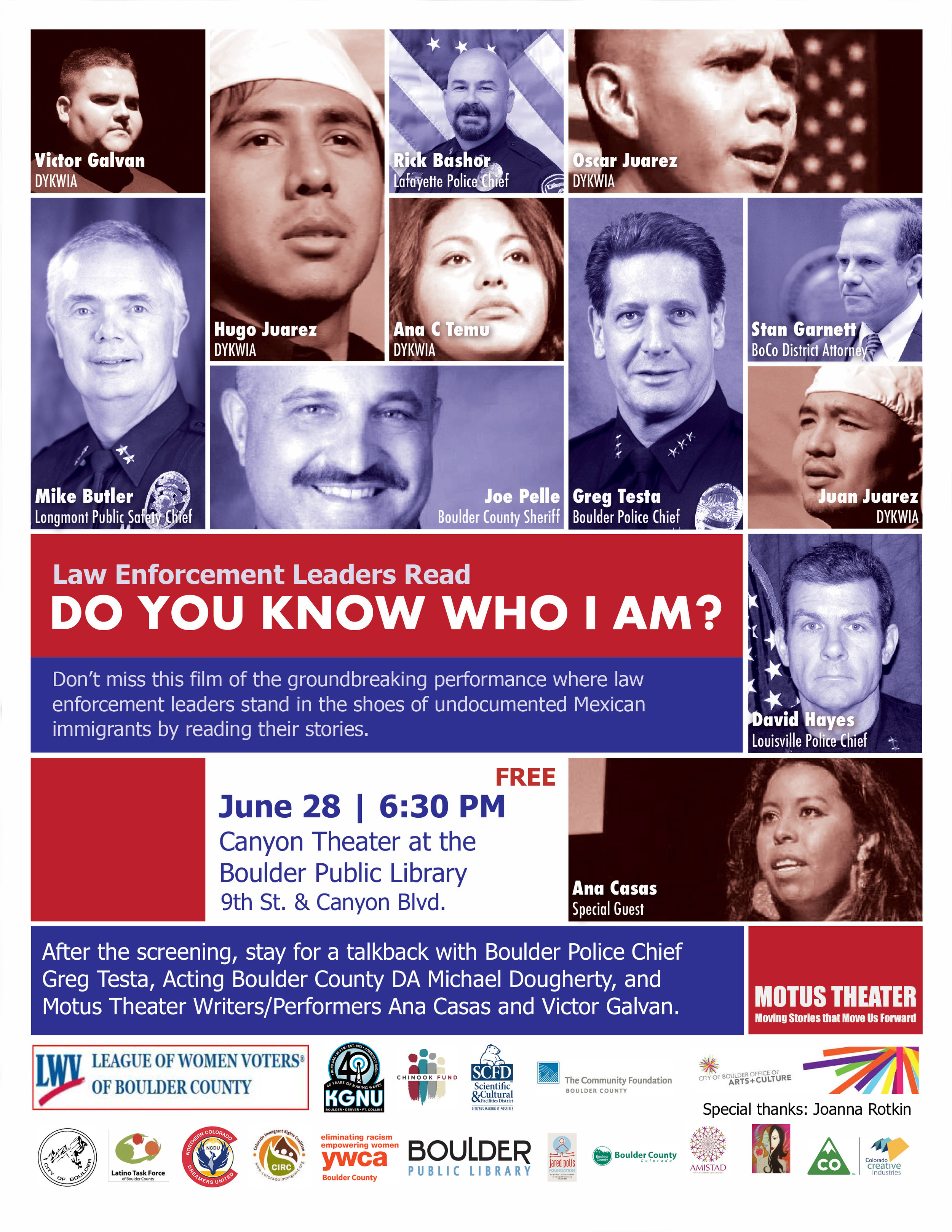 Experience the film of the powerful performance that transformed our community and influenced the national conversation about the real lives behind DACA and immigration reform! The performance was featured on NPR's  Here & Now  and  Latino USA ,  USA Today ,  Fast Company , and  American Theater , as well as on the  front page of local newspapers .