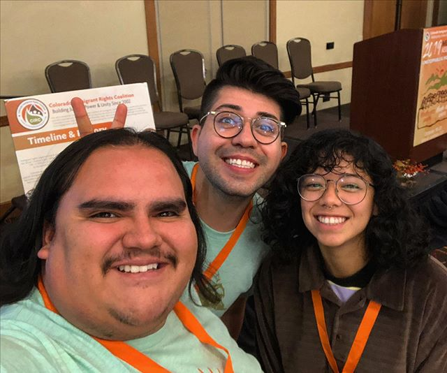 2019 CIRC Statewide Assembly with Victor, Cristian and Kiara!  Thanks to everyone who helped organize. #COImmigrant19 #UndocuFam 