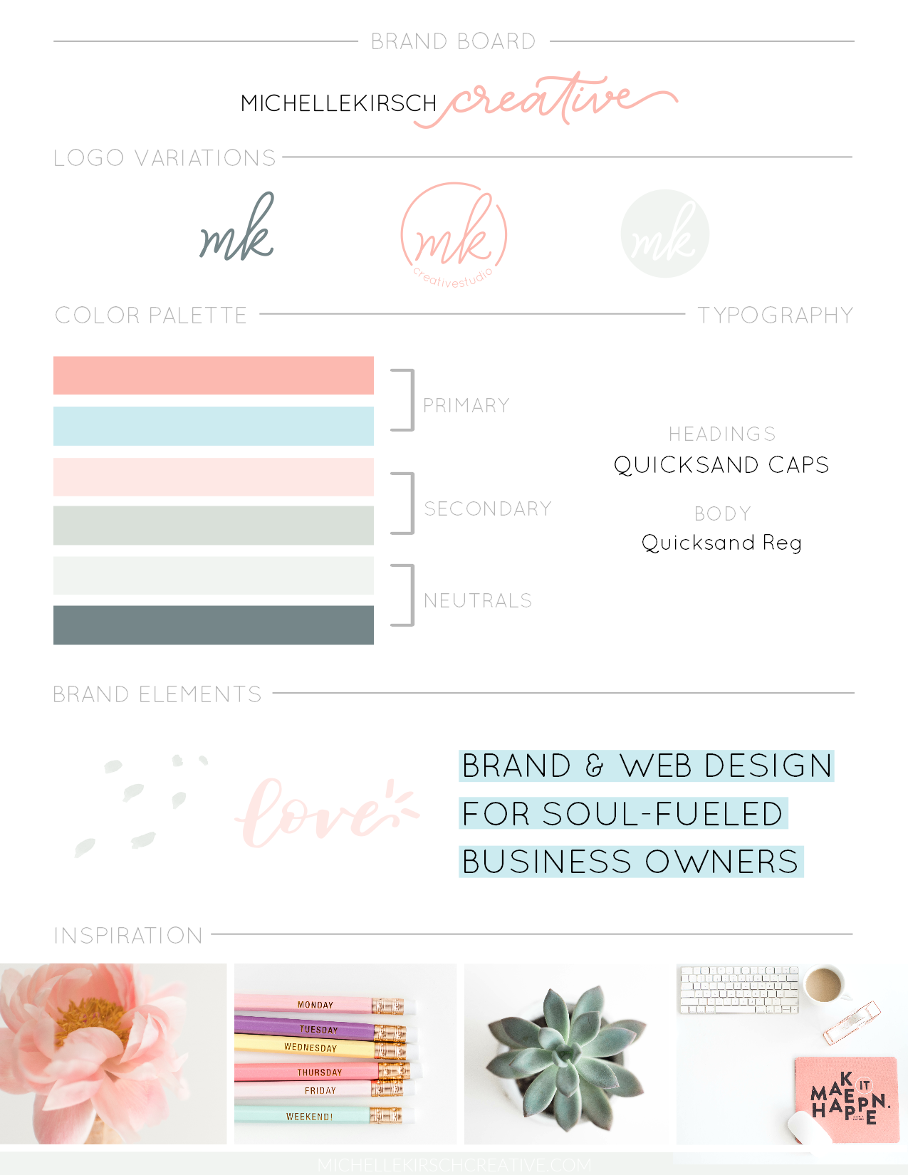 Brand Board Template Example