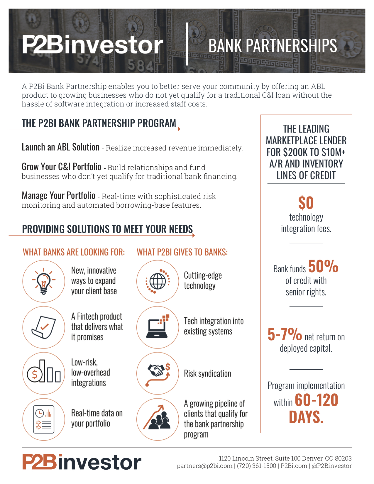 P2Bi Bank Partnership Overview -