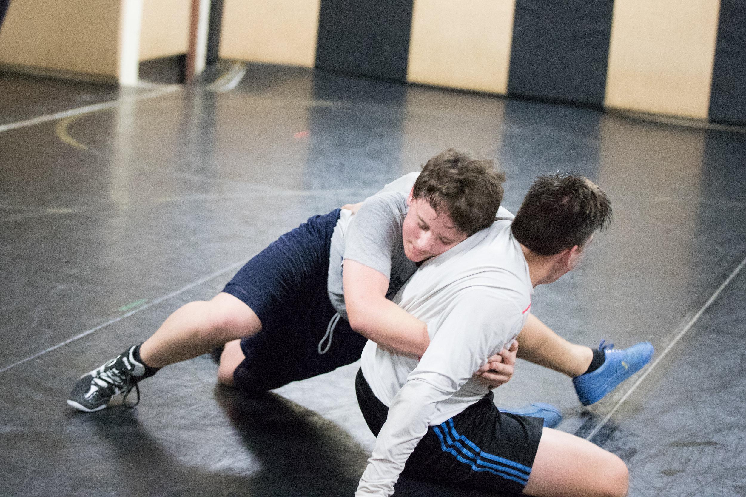 Murphy Participates In Inaugural Wrestling Program For PISD
