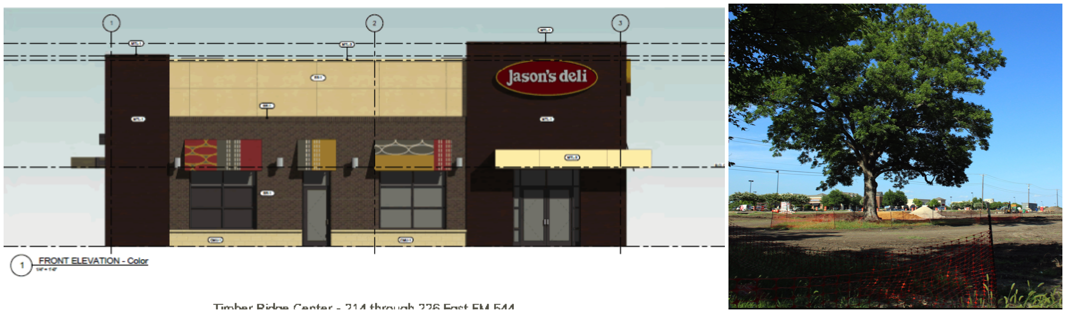 Timber Ridge Center will include Jason's Deli