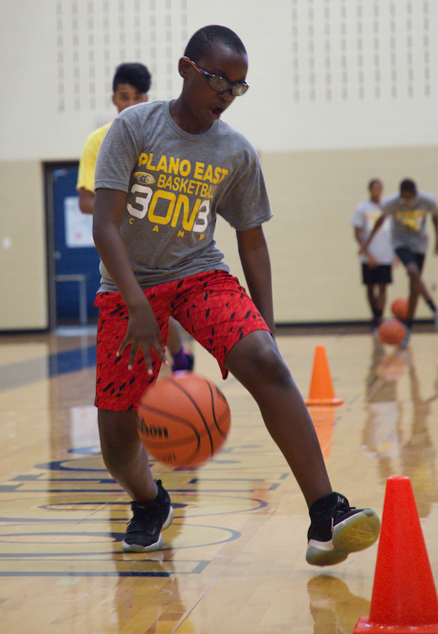 Campers work on multiple skills specifically designed to improve their 3-on-3 tournament play.