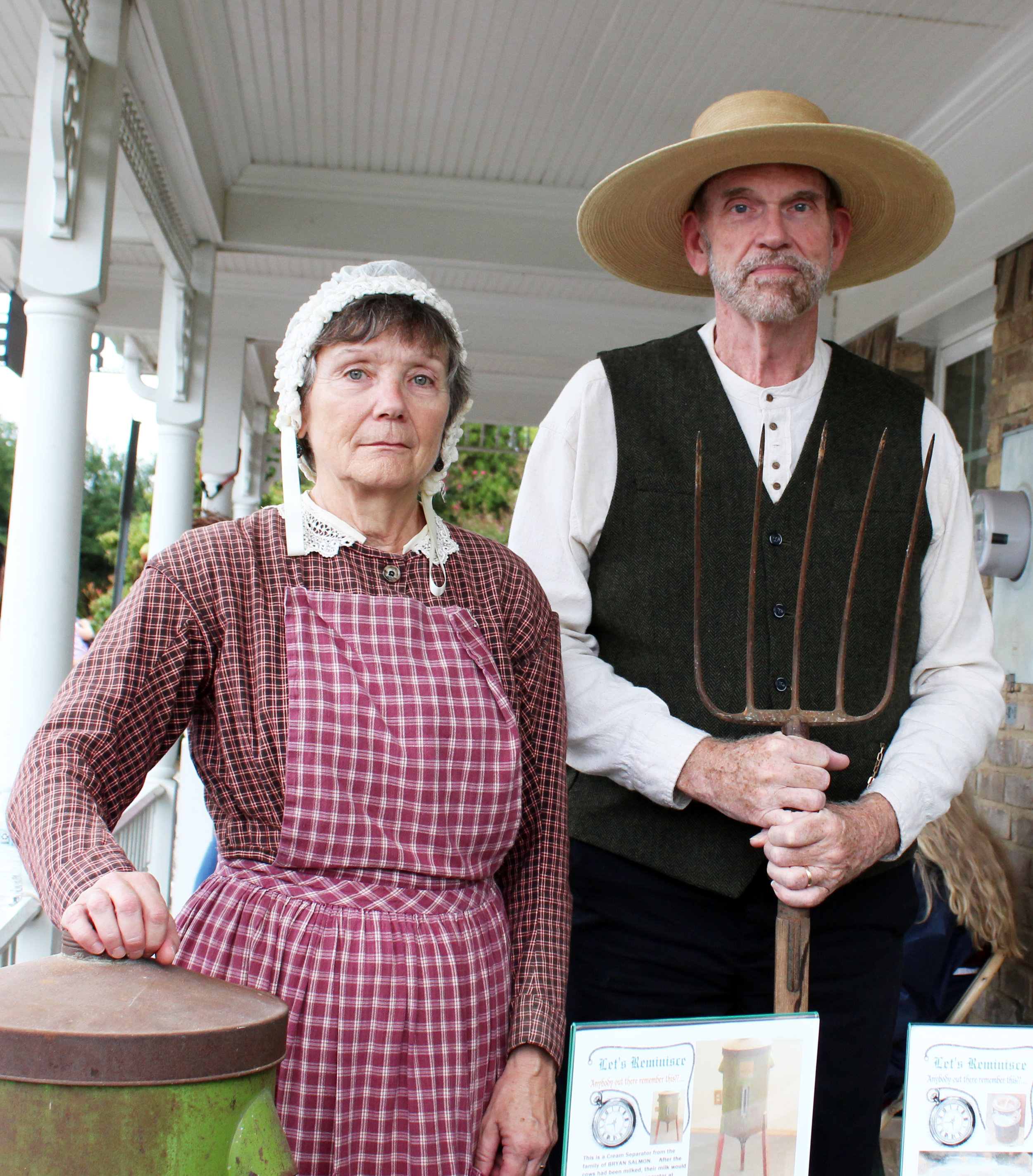 Tom Leach and Becky Clemens chose not to smile for this photo to reflect the time period they represented and the limitations that daguerreotype photos presented.