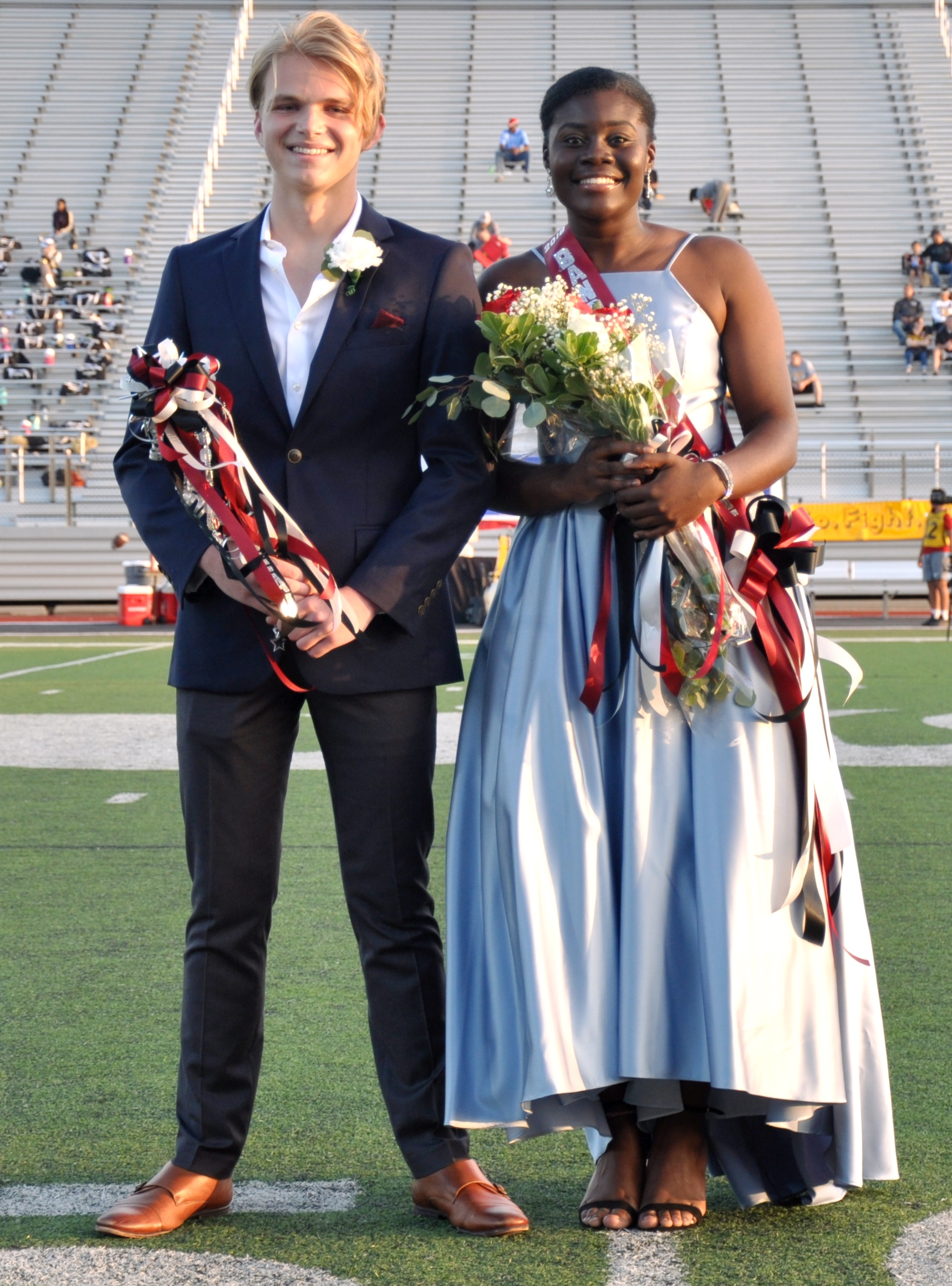 Rook Segrest and Laeticia Evang are named band beau and princess.