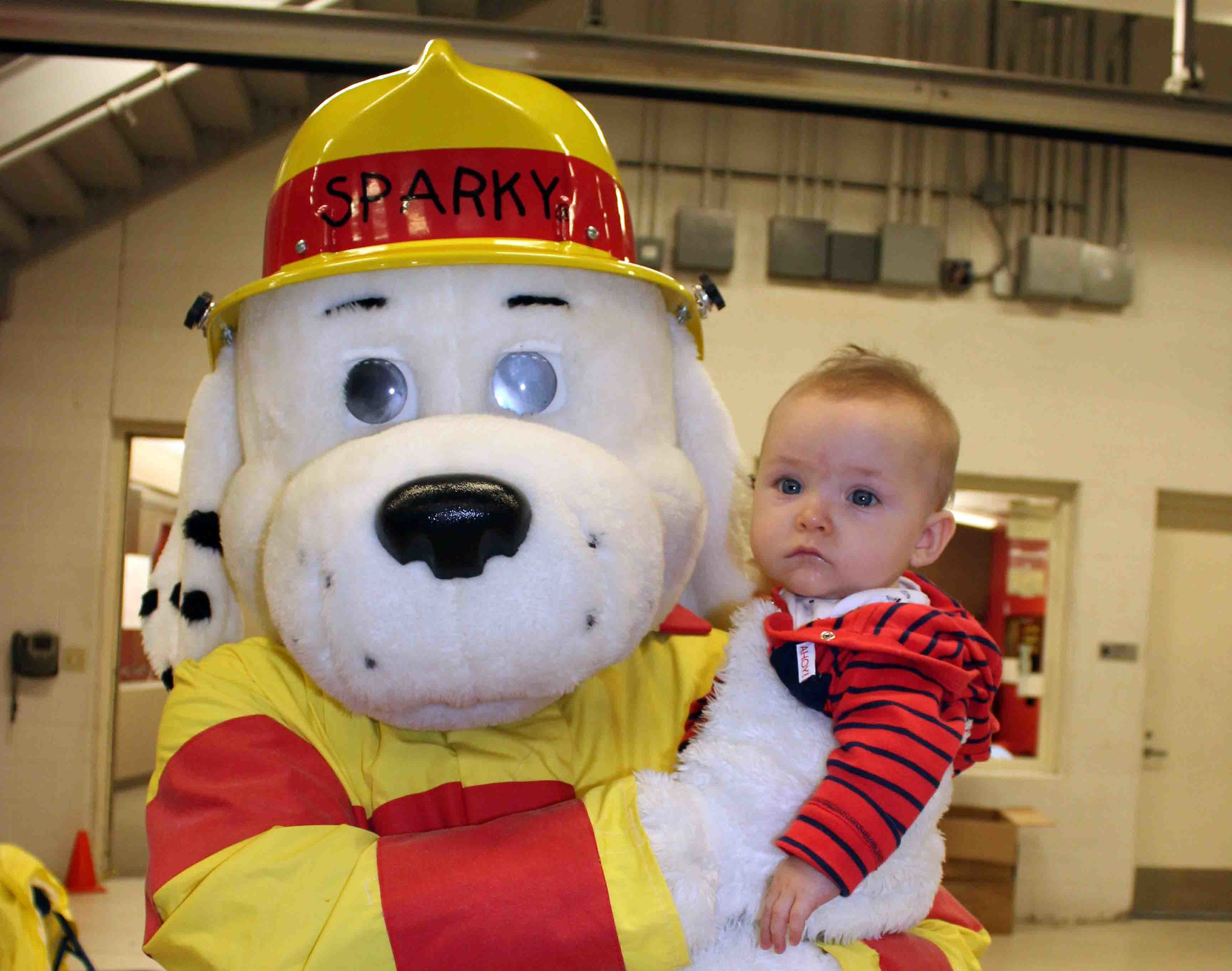 Tucker Rounsavall enjoyed snuggling with Sparky. Tucker is the youngest grandson of Dawnelle Collings, City of Murphy Fire Administrative Assistant.