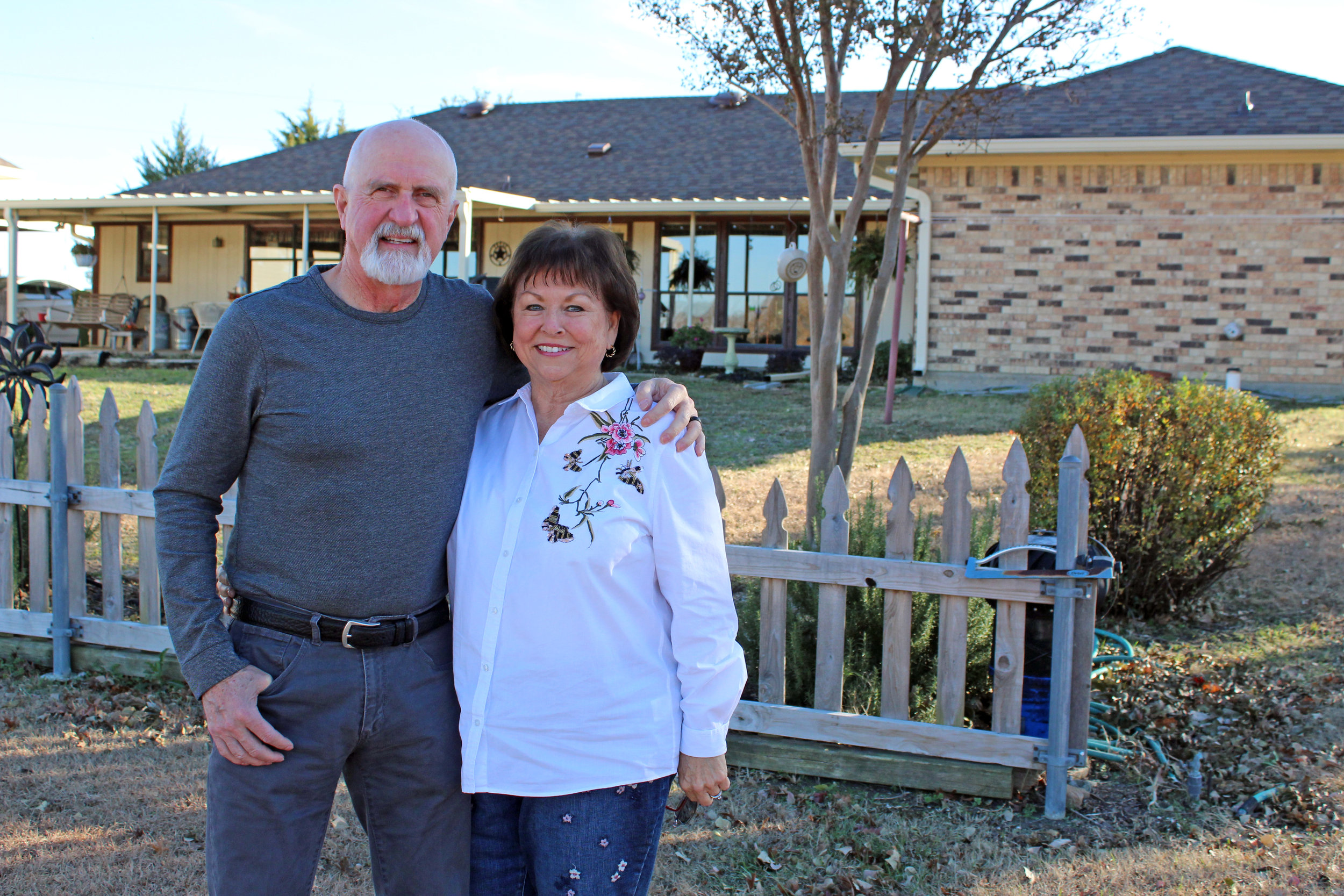 When Tuck was 18 years old, he told Vickie he would build their house and everything in it. He built their home in Murphy in 1984.