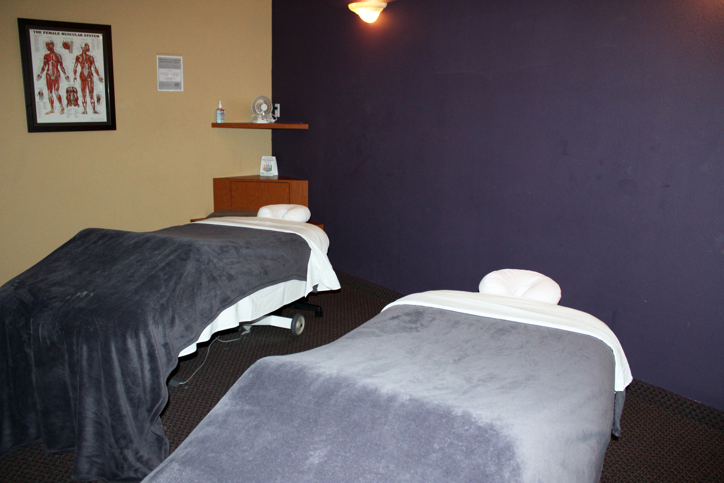 The majority of their clients come to Massage Envy for either relaxation or physical therapy needs.