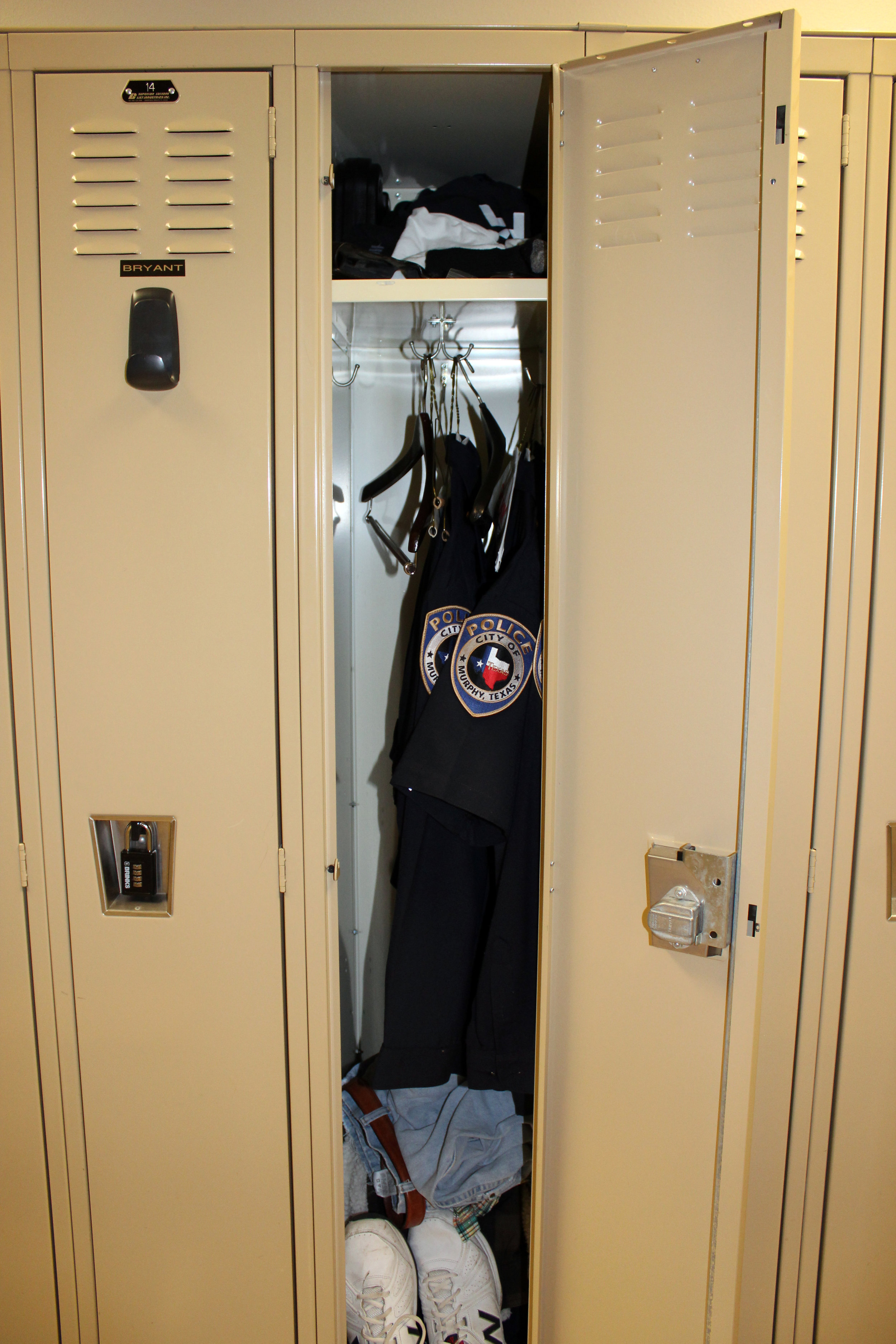 Existing lockers which will be replaced.