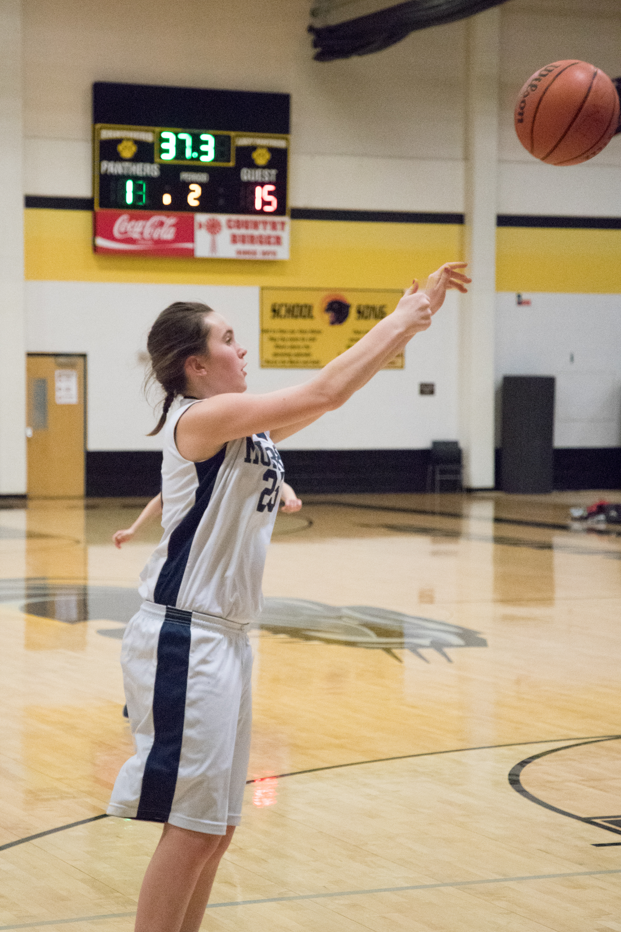 Grace Meentemeyer makes a basket in the second period.