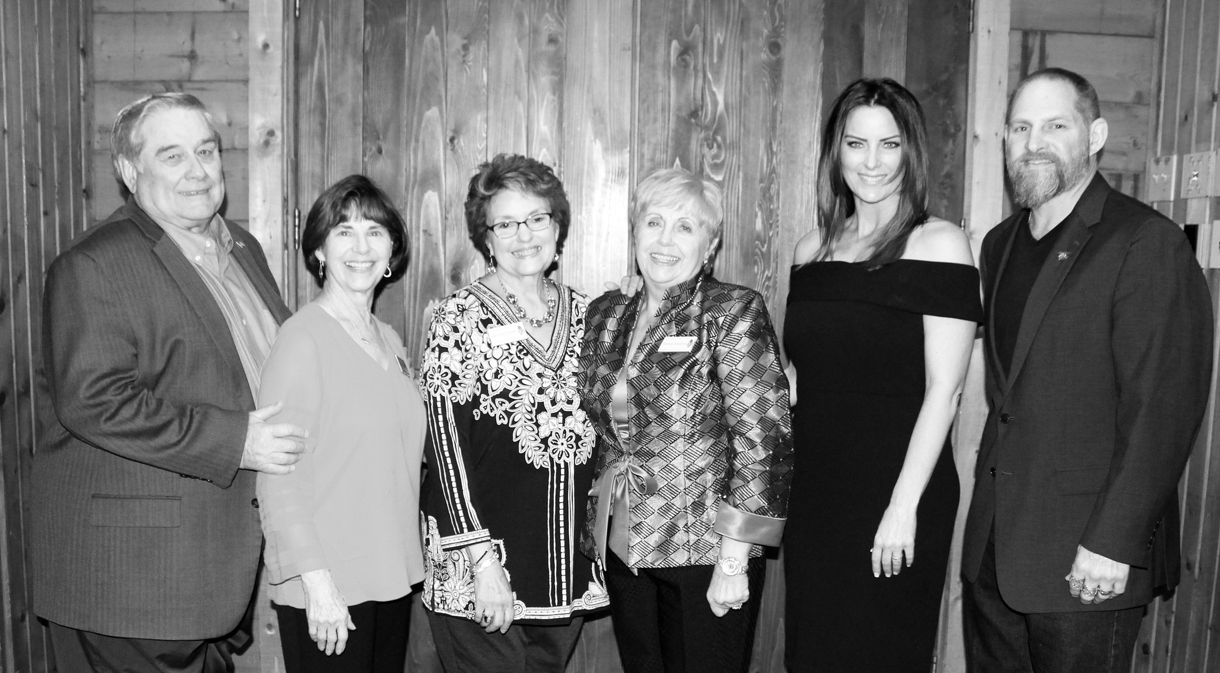 (From left) Lou and Sue Diamond, Mary Pat Elledge, Donna Jenkins, Natalie Woods and Scott Phillips.