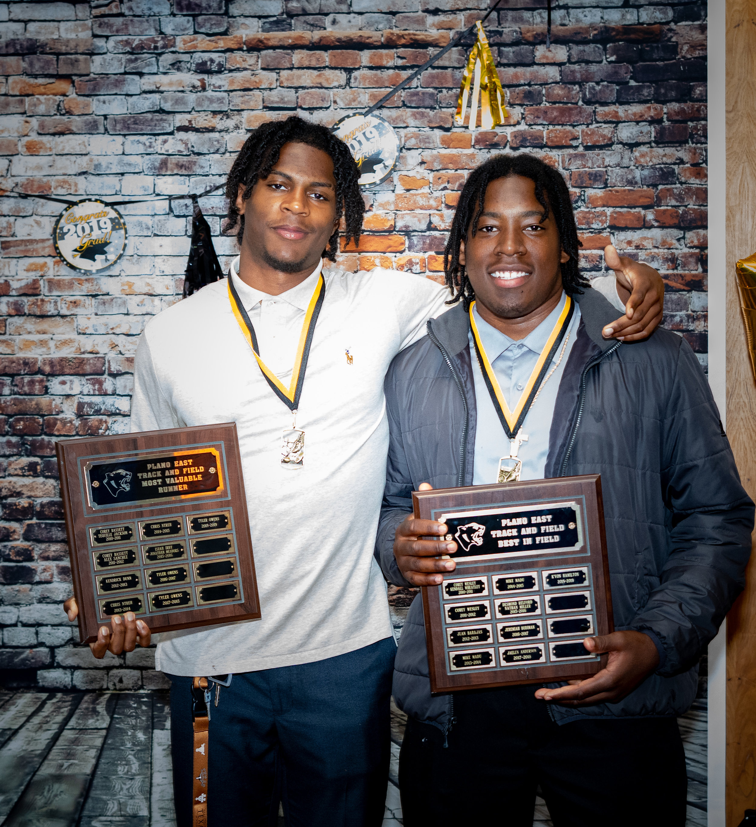 Tyler Owens (Most Valuable Runner) and K'Von Hamilton (Best in Field) had an outstanding season.
