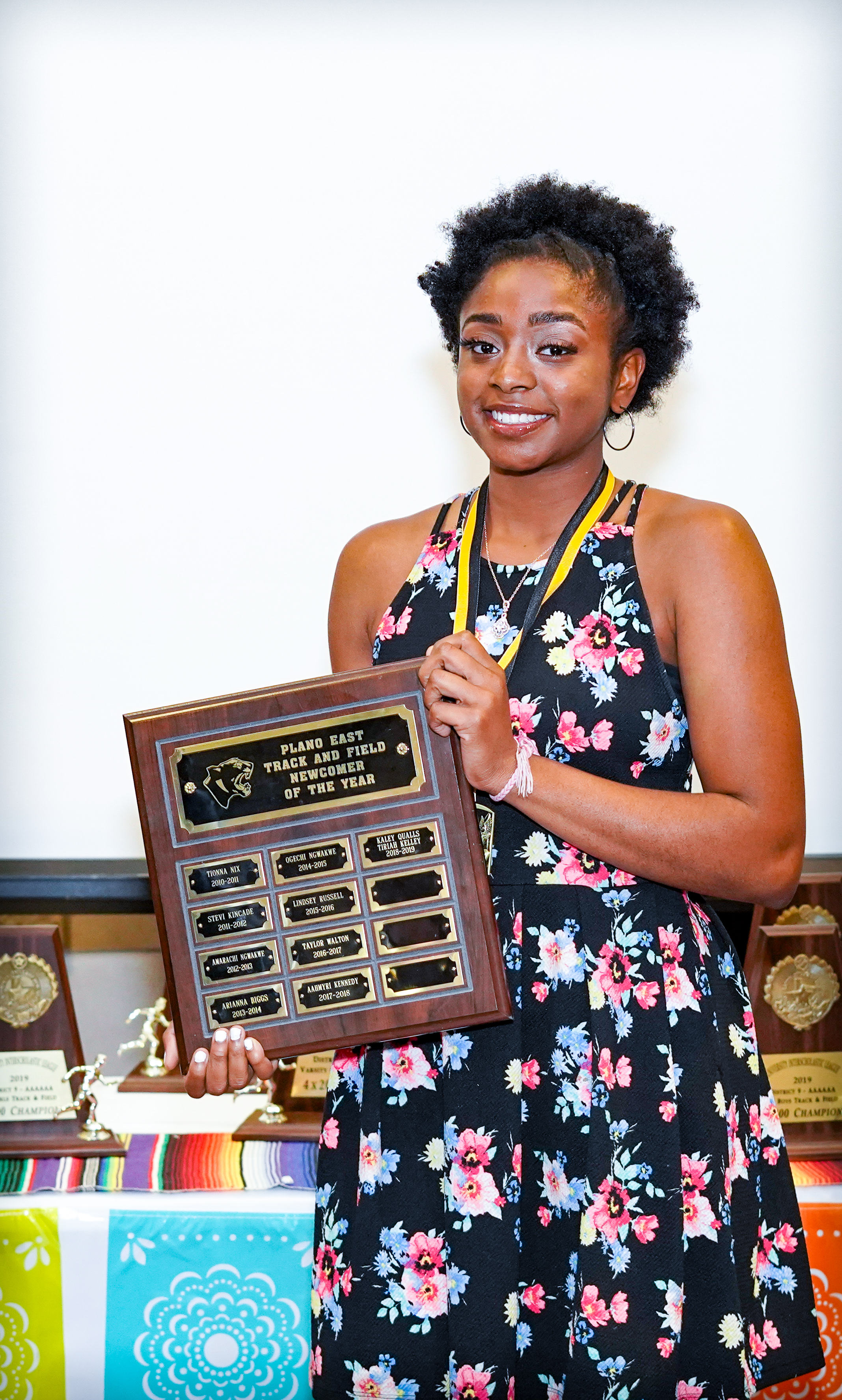 Tiriah Kelley (pictured) and Kaley Qualls share the Newcomer of the Year award.