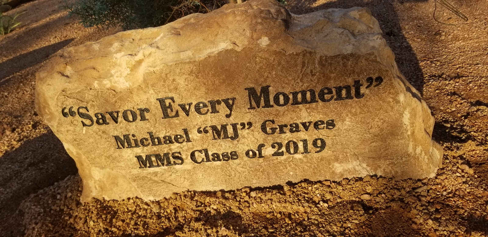 Kyle Kester created the MJ Graves Memorial Garden as his Eagle Scout project.