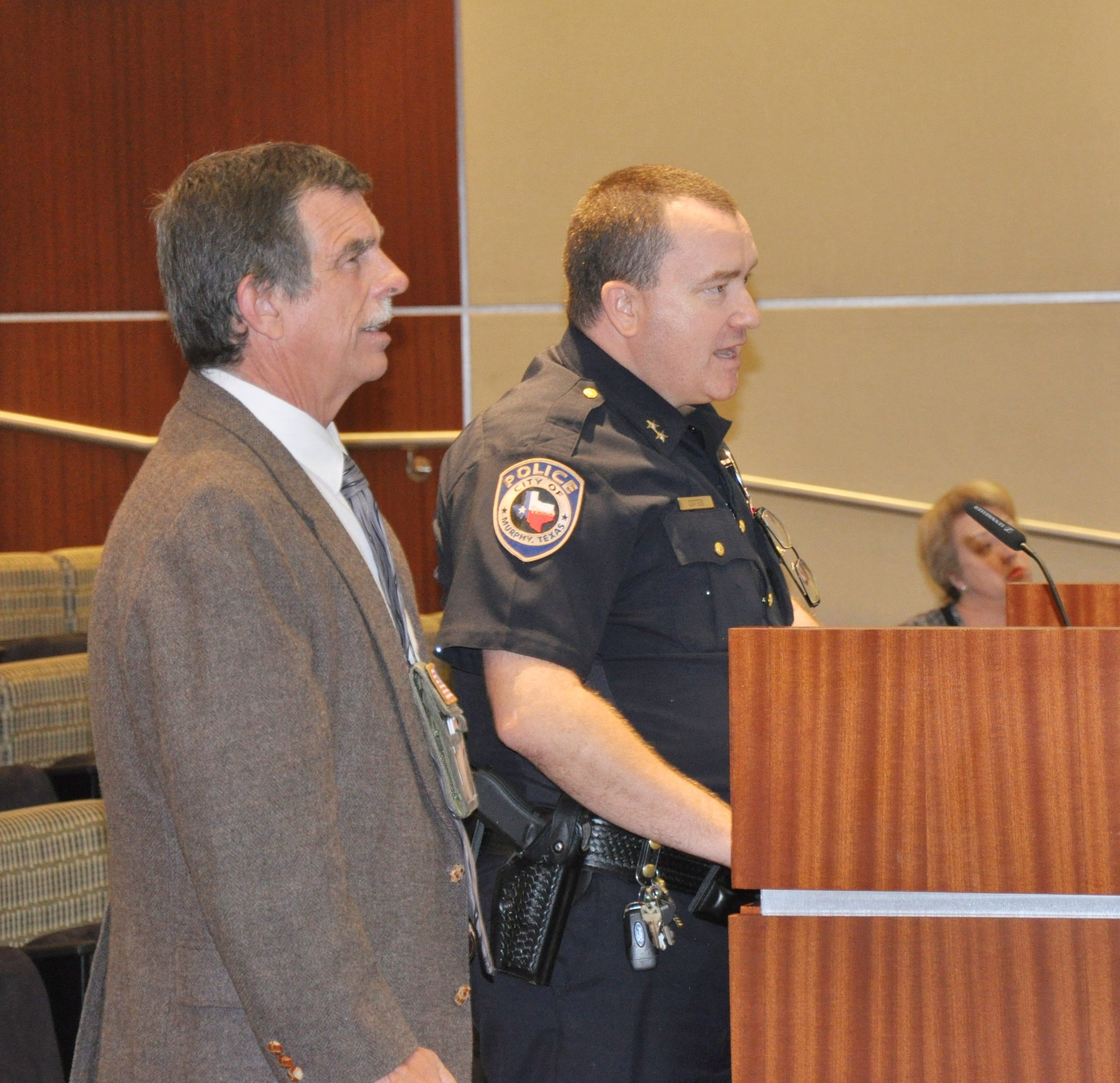 Police Chief Cotten discusses the success of the new right turn lane.