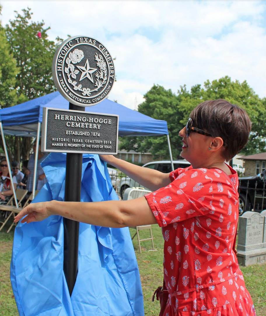 1. Ruth Gordillo unveiled the state marker.