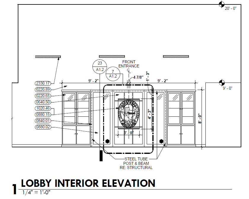 MPD lobby remodel will feature a Murphy police badge etched in glass.