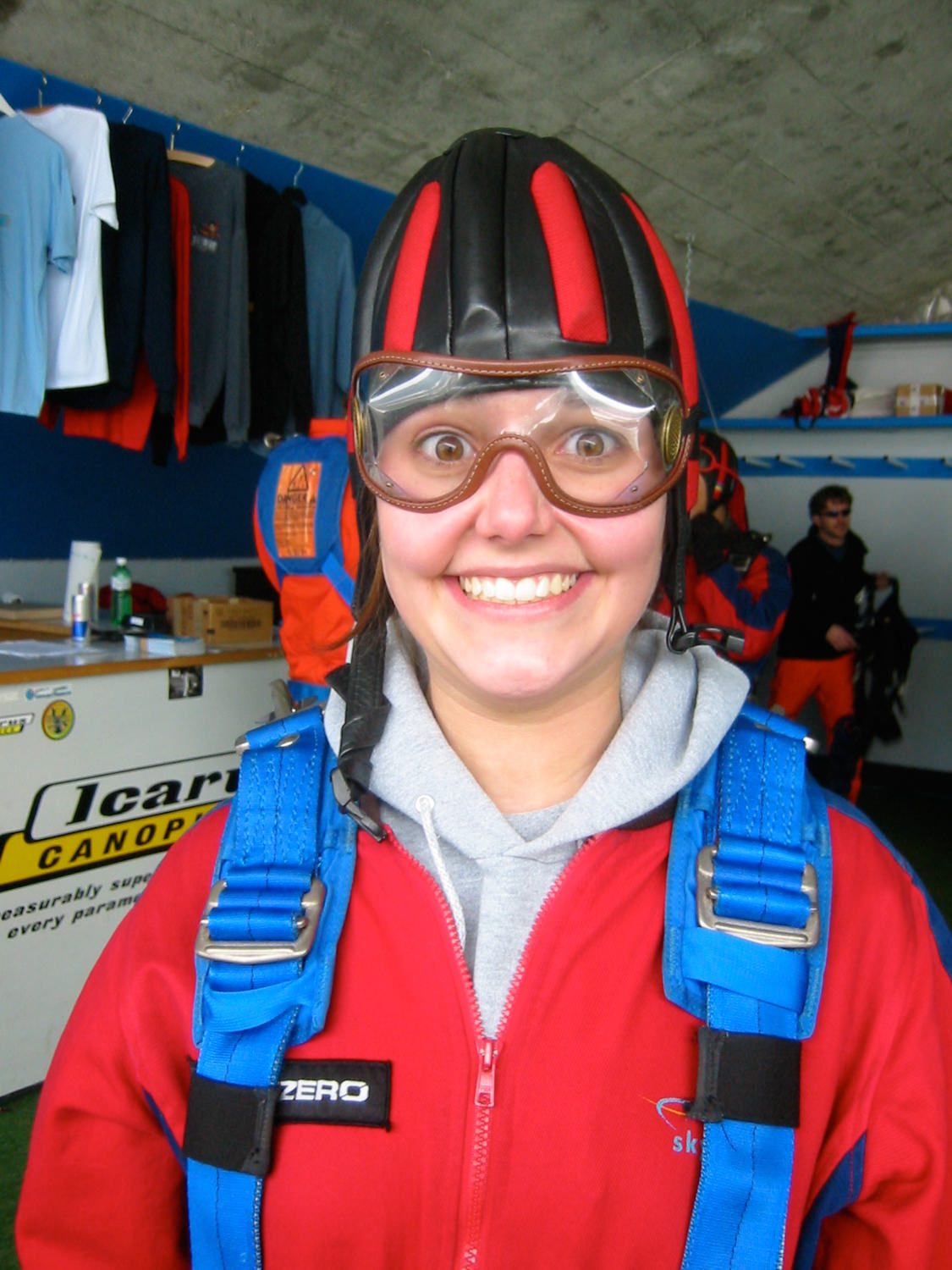 "I went skydiving while I was studying abroad in Italy. I had no idea I could feel in trouble (as a 21 year old adult) and scared of my parents when they were across the ocean. But I could. And I did. I guess I shouldn't have started the call with, ""Don't worry. I'm ok…."""