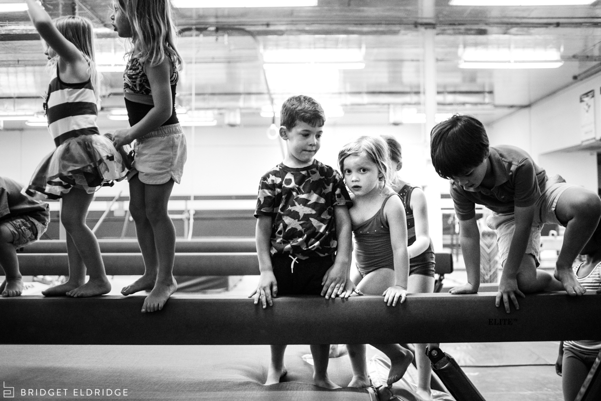 kid balance beam pile up at a birthday party in northern virginia