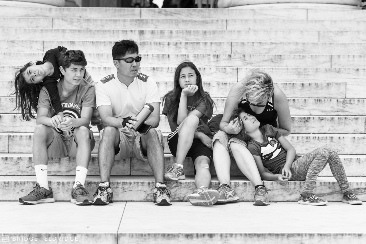 family rests during a bike ride things to do with kids in washington dc