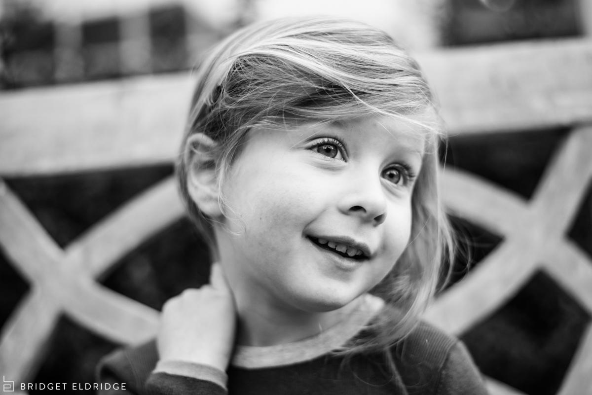 portrait of a little girl in bethesda, md